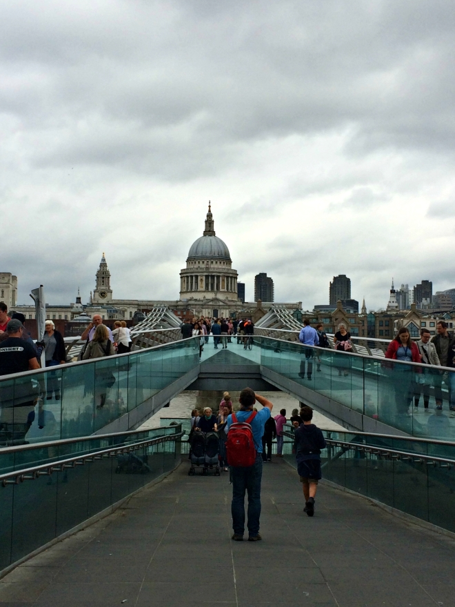 Millenium Bridge and St. Pauls Cathedral.
