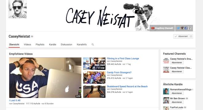 Casey Neistat Youtube