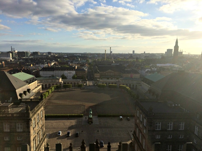 View from the tower of Christiansborg
