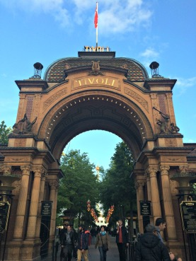 Main Entrance to Tivoli Gardens Amusement Park
